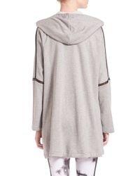 Rebecca Minkoff - Gray Hi-low Hooded Vest - Lyst
