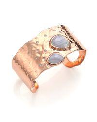 Monica Vinader - Metallic Siren Collection Lace Agate Cuff Bracelet - Lyst