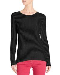 ESCADA | Black Lightweight Ribbed Pullover | Lyst