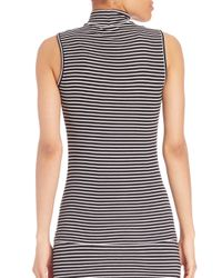 ATM | Black Engineered Sleeveless Silk Blend Sweater Dress | Lyst