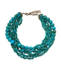 Weekend by Maxmara - Blue Tabella Multi-layered Choker Necklace - Lyst