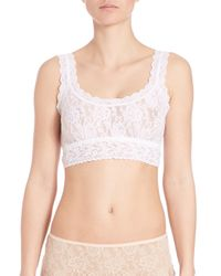 Hanky Panky | White Signature Lace Cropped Tank Top | Lyst