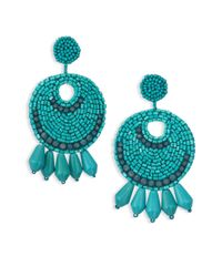 Kenneth Jay Lane | Blue Sunburst Drop Earrings | Lyst