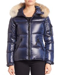 Sam. | Blue Blake Fur-trim Down Puffer Jacket | Lyst
