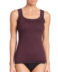 Hanky Panky | Black Heather Jersey Classic Camisole | Lyst
