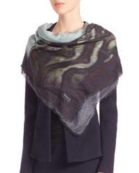 Armani - Multicolor Ripple-print Wool Scarf - Lyst