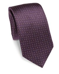 Saks Fifth Avenue | White Pin Dot Silk Tie for Men | Lyst