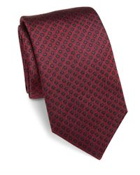 Saks Fifth Avenue | Red Circle Dot Silk Tie for Men | Lyst
