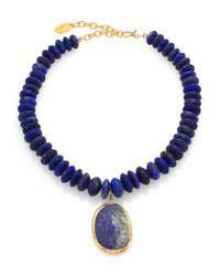 Chan Luu | Blue Lapis Beaded Pendant Necklace | Lyst