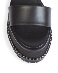 Givenchy | Black Ursa Leather Platform Slingback Sandals | Lyst