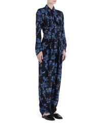 Stella McCartney | Blue Printed Silk Jumpsuit | Lyst