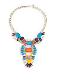 ABS By Allen Schwartz | Blue Going Coastal Crystal Bib Necklace | Lyst