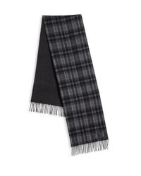 Saks Fifth Avenue | Gray Johnstons Of Elgin Plaid Merino Wool & Cashmere Scarf for Men | Lyst