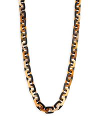 Nest | Metallic Mixed Horn Rectangle Link Necklace | Lyst