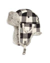 Saks Fifth Avenue | Gray Rabbit Fur Aviator Hat for Men | Lyst