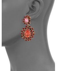 Oscar de la Renta | Pink Goldplated Resin Earrings | Lyst