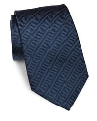 Giorgio Armani - Blue Diagonal Striped Silk Tie for Men - Lyst
