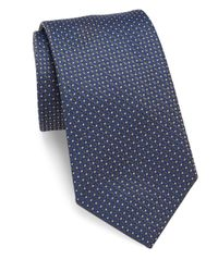 Giorgio Armani | Blue Geometric Motif Silk Tie for Men | Lyst