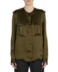Haider Ackermann   Green Long Sleeve Silk Shirt   Lyst