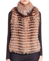 Michael Kors | Blue Fox Fur Vest | Lyst