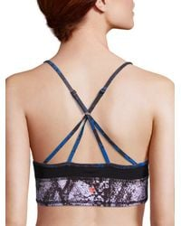 Vimmia - Blue Abstract Printed Sports Bra - Lyst