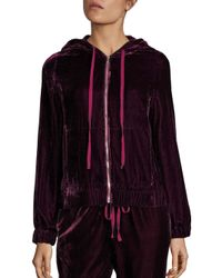 Saks Fifth Avenue | Purple Velvet Hoodie | Lyst