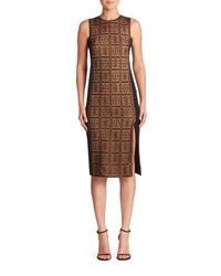 Akris | Black Lace & Silk Sheath Dress | Lyst