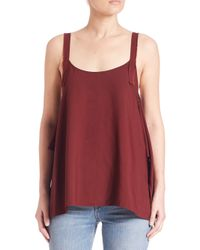 Helmut Lang | Red Sleeveless Tank Top | Lyst