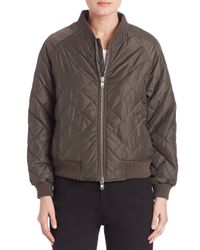 VINCE | Multicolor Quilted Bomber Jacket | Lyst