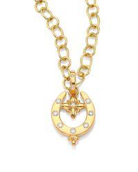 Temple St. Clair - Metallic Horseshoe Diamond & 18k Yellow Gold Pendant - Lyst