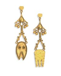 Chloé   Metallic Lyzabeth Chandelier Earrings   Lyst