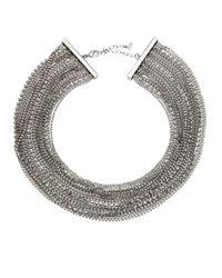 ABS By Allen Schwartz | Metallic Out Last Night Multi-strand Necklace | Lyst