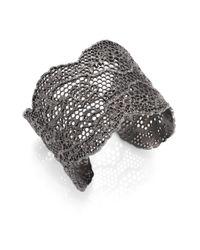Aurelie Bidermann | Gray Vintage Lace Cuff Bracelet | Lyst