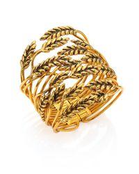 Aurelie Bidermann | Metallic Wheat Cuff Bracelet | Lyst
