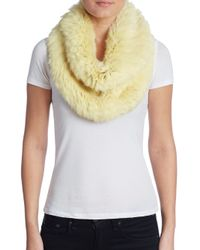 Yves Salomon | Yellow Rabbit Fur Snood | Lyst
