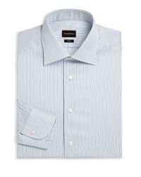 Ermenegildo Zegna | Blue Stripe Regular Fit Dress Shirt for Men | Lyst