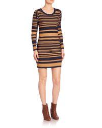 Sonia by Sonia Rykiel | Natural Long Sleeve Striped Dress | Lyst