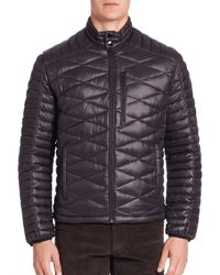 Saks Fifth Avenue | Black Modern Quilted Puffer Jacket for Men | Lyst