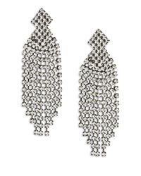 Kenneth Jay Lane | Metallic Crystal Waterfall Clip-on Earrings | Lyst