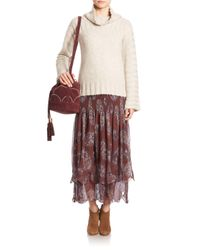 See By Chloé - Multicolor Chunky Turtleneck Sweater - Lyst