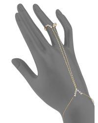 Adriana Orsini - Metallic Salome Crystal Hand Chain - Lyst