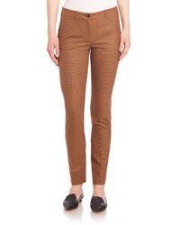 Michael Kors | Brown Tattersall Stretch Wool Flannel Pants | Lyst