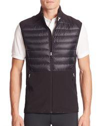 J.Lindeberg | Black Sleeveless Quilted Jacket for Men | Lyst