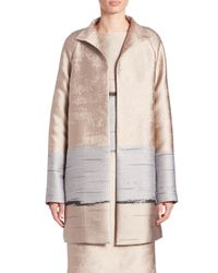 Lafayette 148 New York | Blue Jacquard Long Aalyah Coat | Lyst