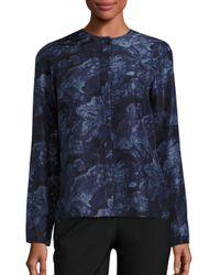 Elizabeth and James | Blue Davidson Long Sleeve Silk Blouse | Lyst