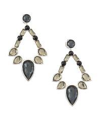 Ippolita | Metallic Sterling Silver Rock Candy? Large Multi-stone Open Teardrop Earrings | Lyst