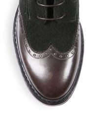 A.Testoni - Multicolor Wingtip Leather Boots for Men - Lyst