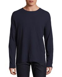 Zachary Prell | Blue Solid Long Sleeve Tee for Men | Lyst