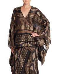 Ralph Lauren Collection | Brown Filipa Poncho Top | Lyst