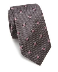 Ike Behar | Gray Floral Pattern Silk Tie for Men | Lyst